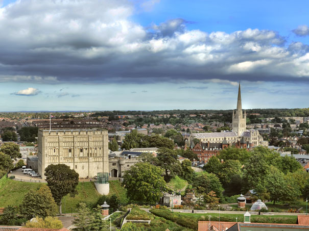 Norwich Castle and Cathedral