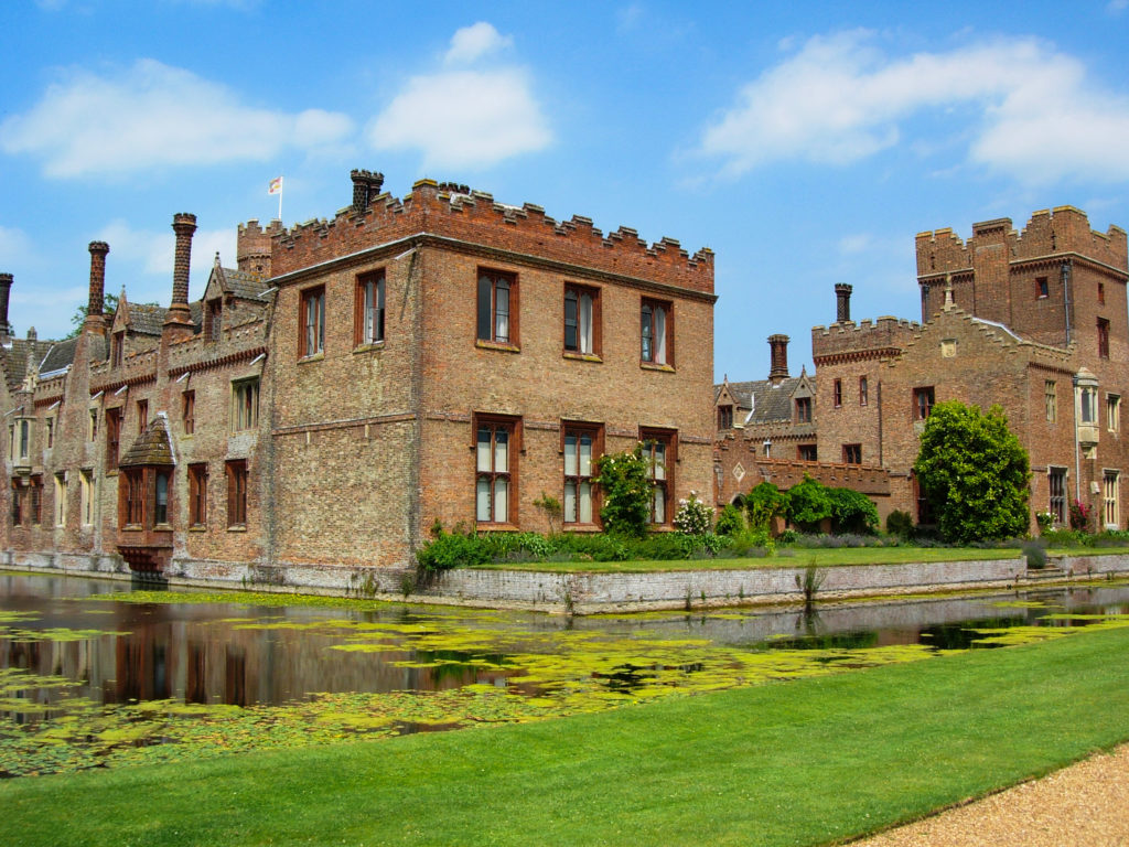 Moated Oxburgh Hall, Norfolk, England