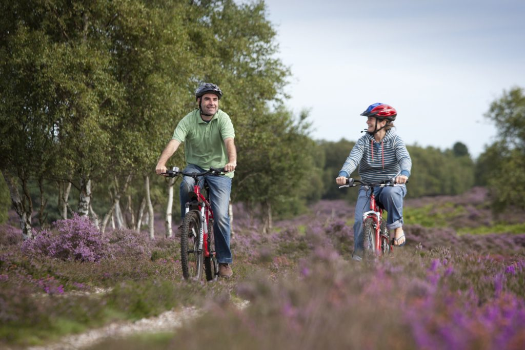 Cycling on Dunwich Heath