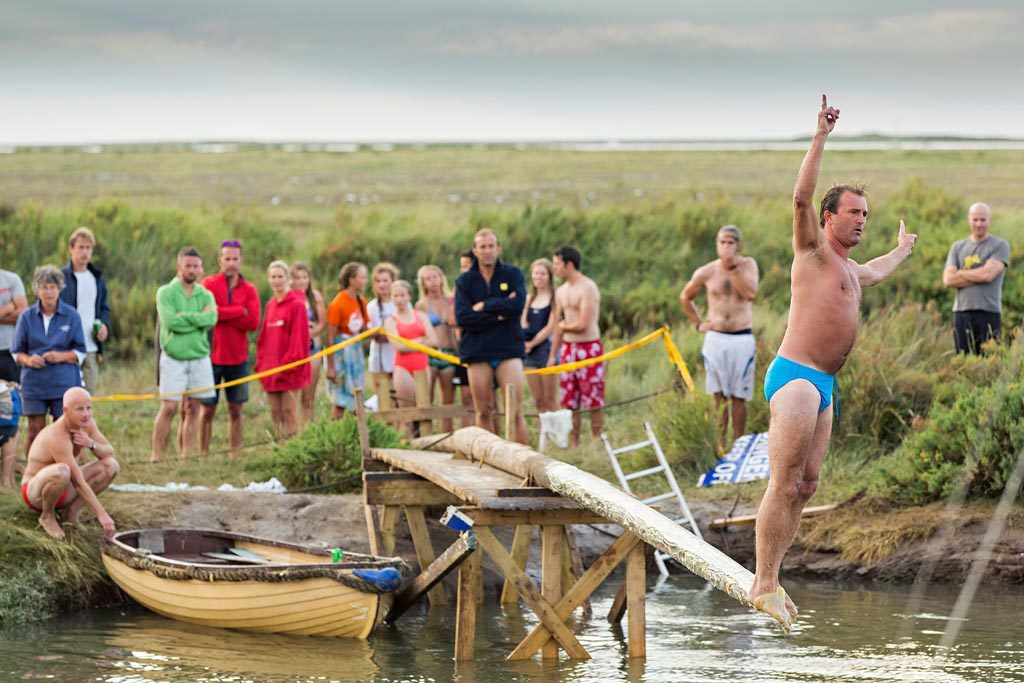 Blakeney Greasy Pole competition