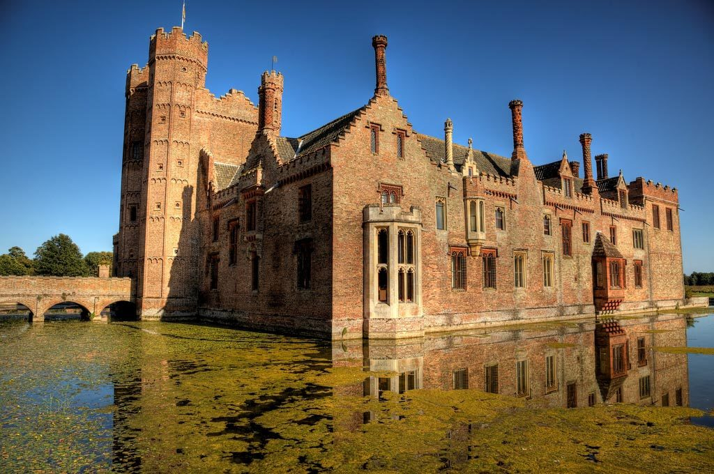 Moated Oxburgh Hall
