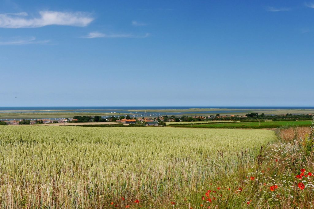 Brancaster and Scolt Head Island from Barrow Common