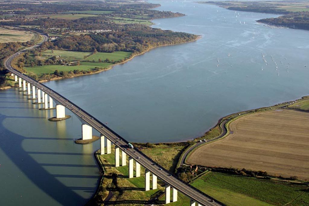 Orwell Bridge and Shotley Peninsula