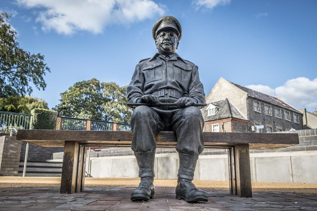 Captain Mainwaring statue, Thetford