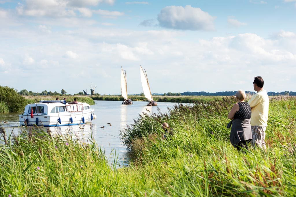 River Thurne. Broads National Park.