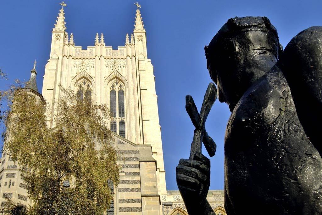 St Edmund's statue, Bury St Edmunds