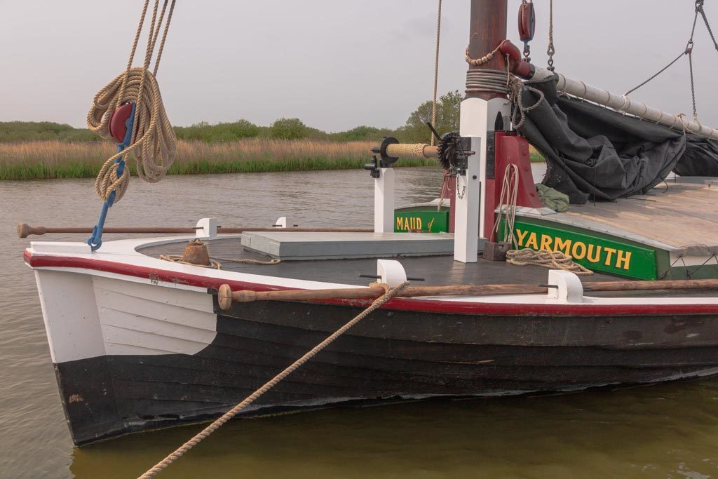 The bows (front end) of Maud (credit, Graeme Taplin)