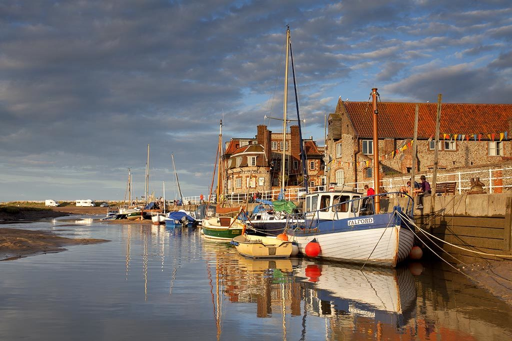Blakeney Quay in the evening light on the North Norfolk Coast