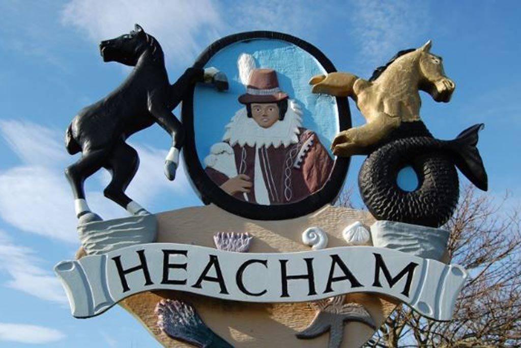 Heacham village sign with Pocahontas