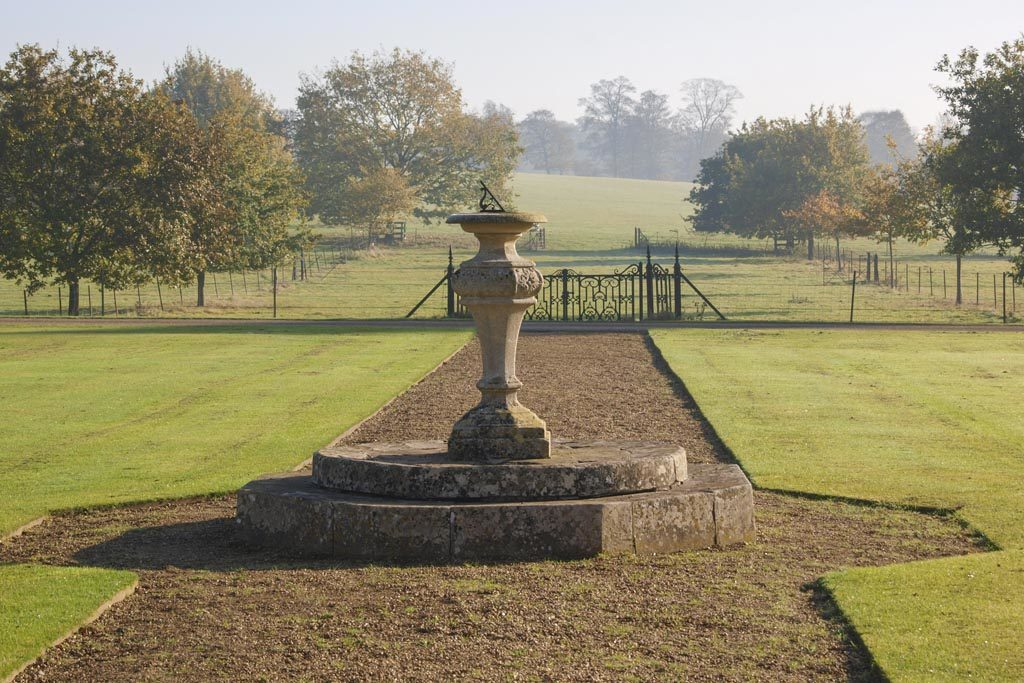 Sundial in the garden at Melford Hall, Suffolk
